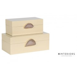 Zestaw pudełek dekoracyjnych Cream