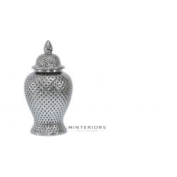 Srebrna Ceramiczna Waza Pierced S