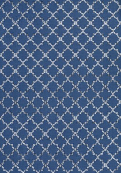 Charm Ivory on Royal Blue