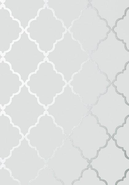 Klein Trellis Silver on Grey