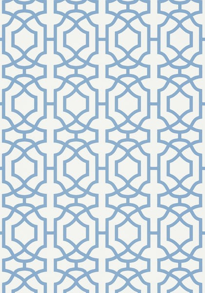 Alston Trellis Blue and White